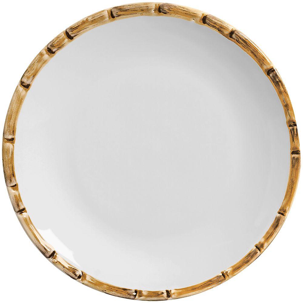 Sousplat Bambu em Ceramica - Ø 34 cm