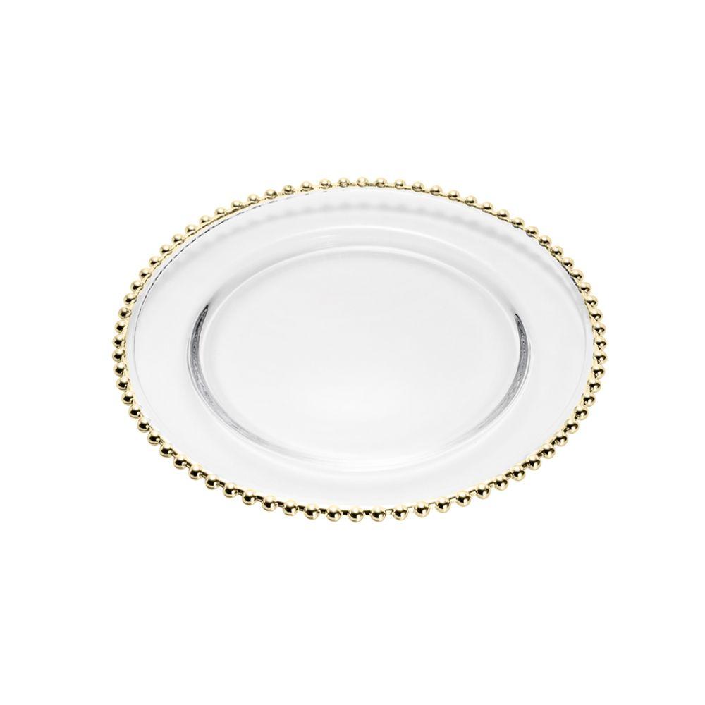 Sousplat Pearl Gold Em Cristal - Ø 31,5 cm