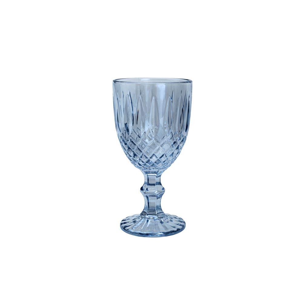 Taça De Vidro Greek Azul - Conjunto de 6 Unidades - 345ml