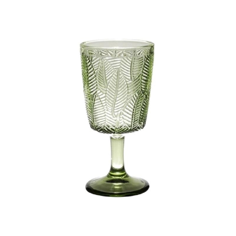 Taça de Vidro Leaves Verde - Conjunto de 6 Unidades - 320ml