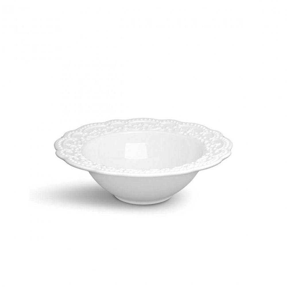 Tigela Passion Branca Em Ceramica - Media - Ø 30 cm 1425 ml