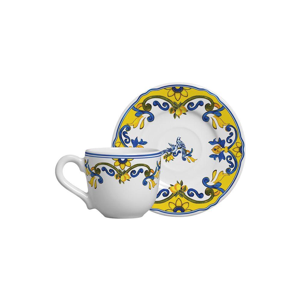 Xicara de Café Limones Em Cerâmica - Conjunto de 6 Unidades