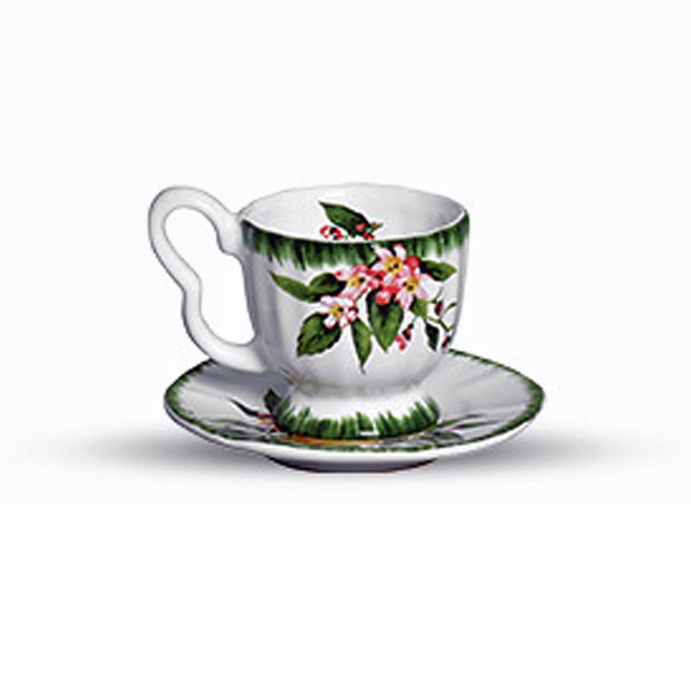 Xicara de Café Positano em Cerâmica - Conjunto de 4 Unidades