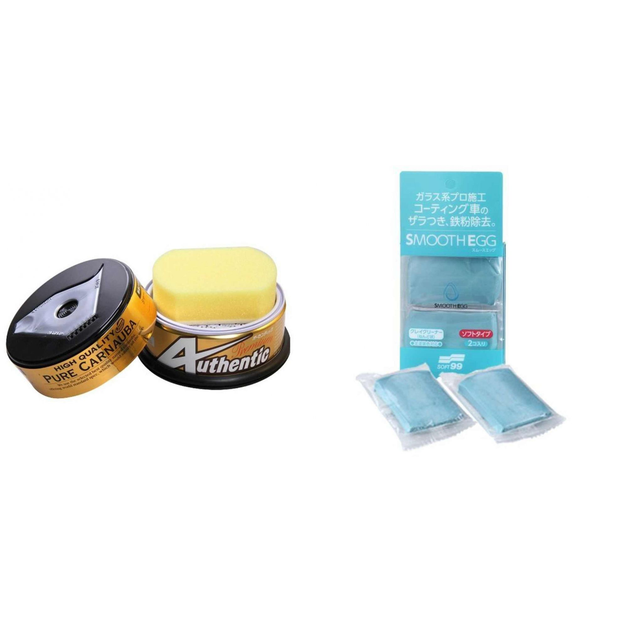 1un Cera New Authentic Premium Soft99 + Clay Bar Soft99