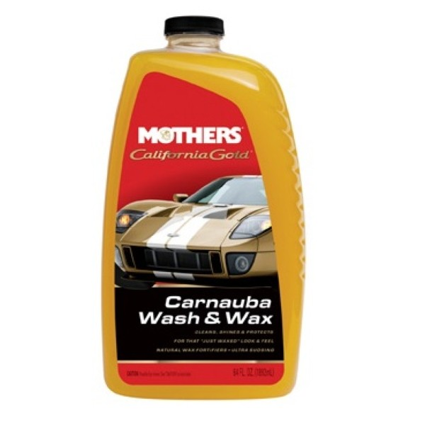 Shampoo com Cera Carnauba Wash & Wax California Gold Mothers 1892ml