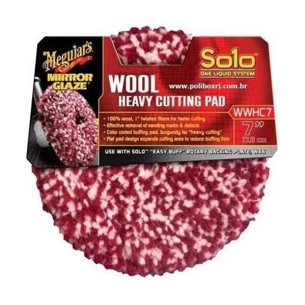 Boina De Lã Agressiva Roxo mesclado 7 pol Solo WWHC7