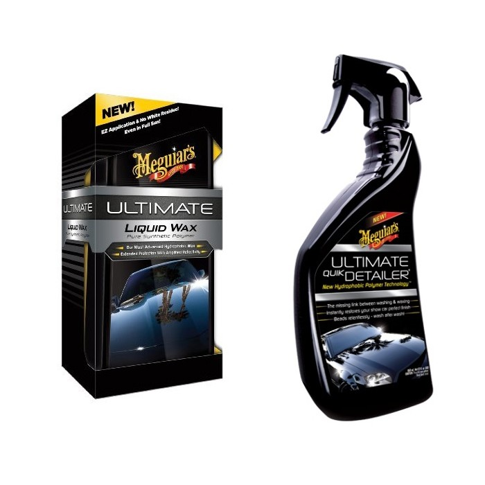 Kit Ultimate Liquid Wax Meguiars + Abrilhantador G14422 650ml Meguiars