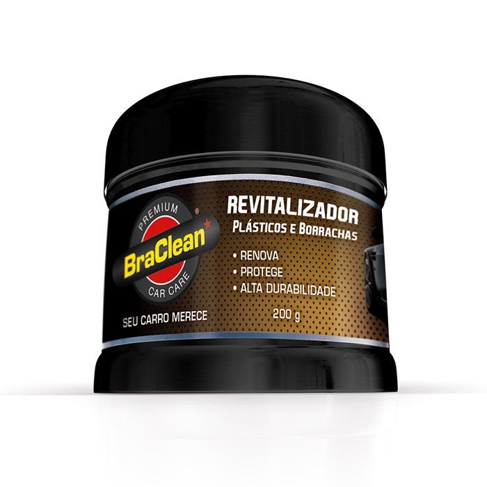 Revitalizador de Plasticos e Borrachas Premium Car Care BraClean 200g