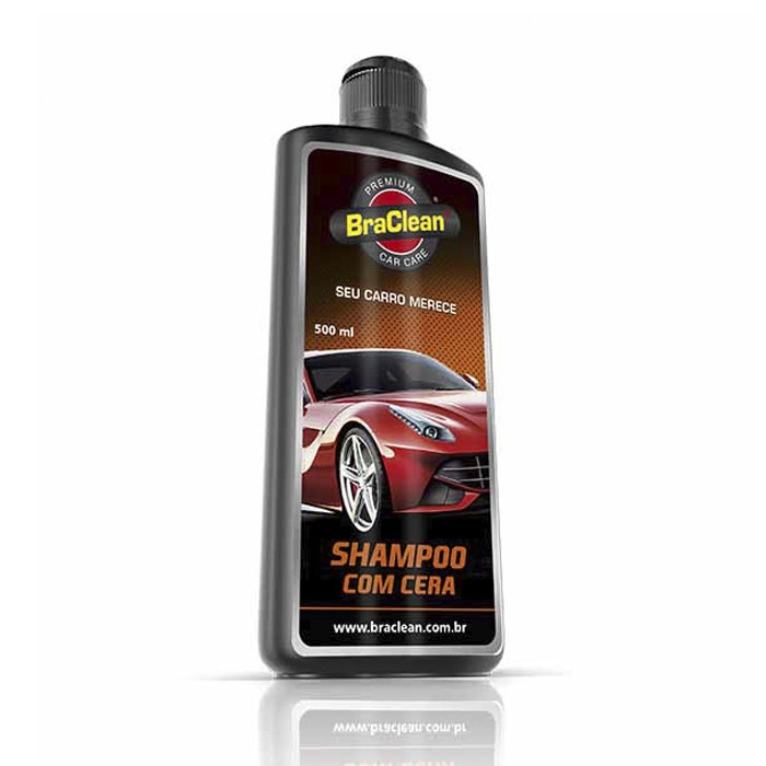 Shampoo com Cera Premium Car Care BraClean 500ml
