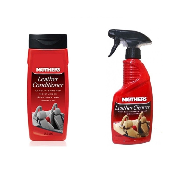 Kit Leather Conditioner 355ml + Leather Cleaner 355ml Mothers