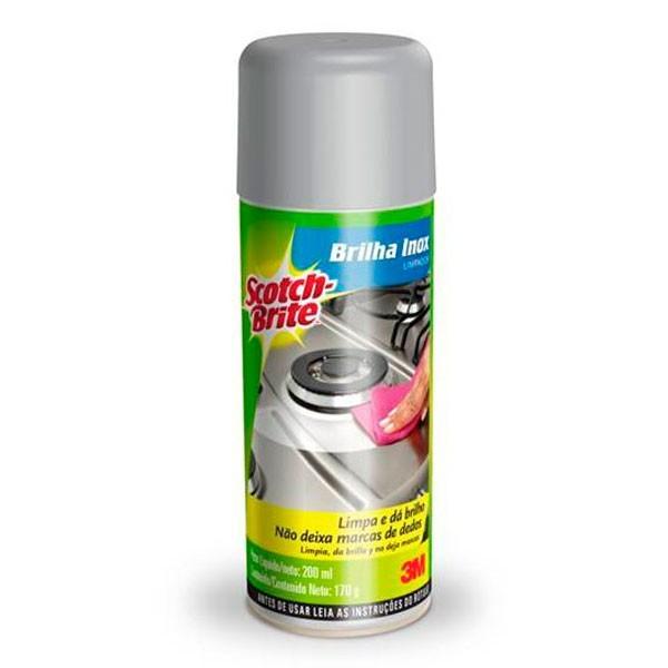 Limpador Spray Brilha Inox Scotch-Brite 170g 3M