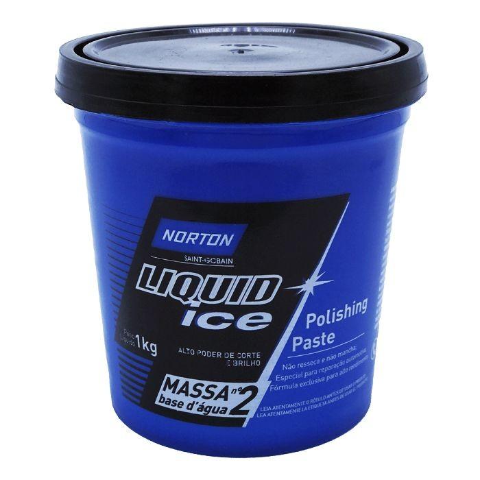 Massa de Polir Nº 2 Liquid Ice 1kg Norton