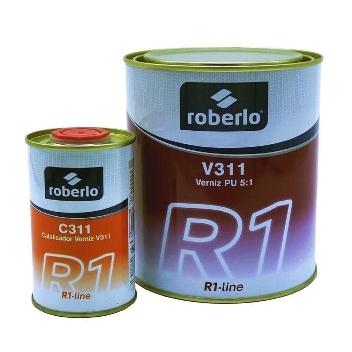 Kit Verniz Pu V311 750ml + Catalizador C311 150ml Roberlo