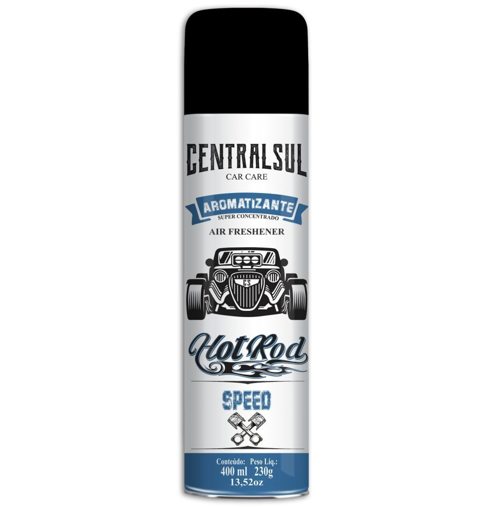 Aromatizante Aerossol Hot Rod Speed 400ml Centralsul