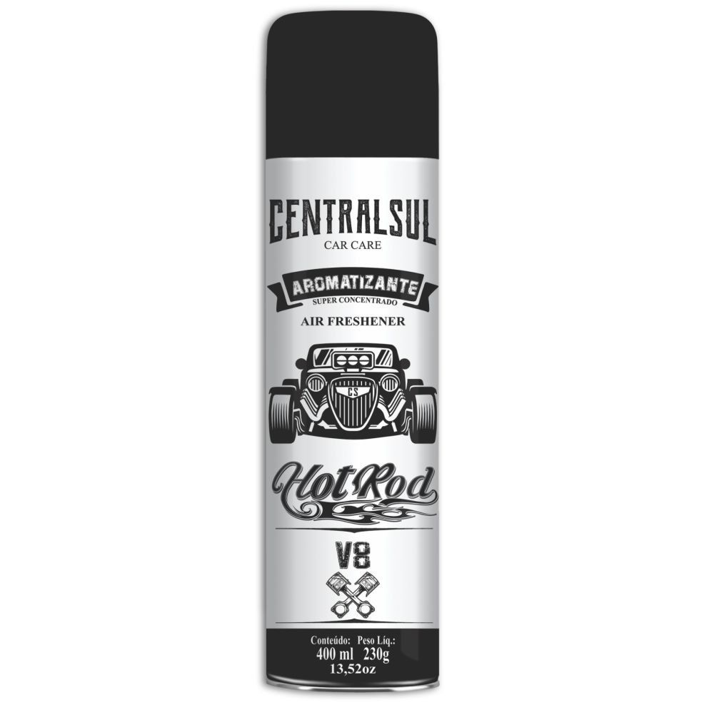 Aromatizante Aerossol Hot Rod V8 400ml Centralsul