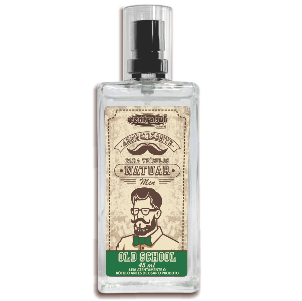 Aromatizante Spray Natuar Men Old School 45ml Centralsul