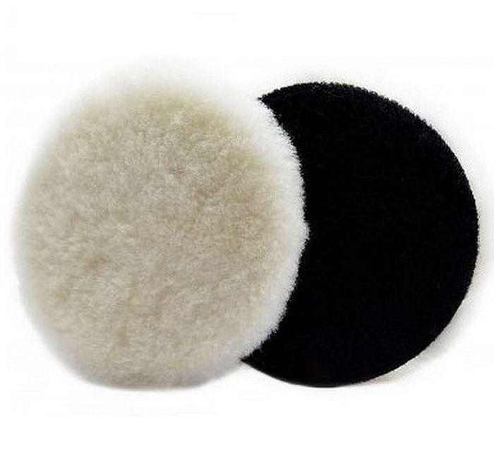 Boina de Lã de Carneiro com Velcro Branca 5 pol New Polish