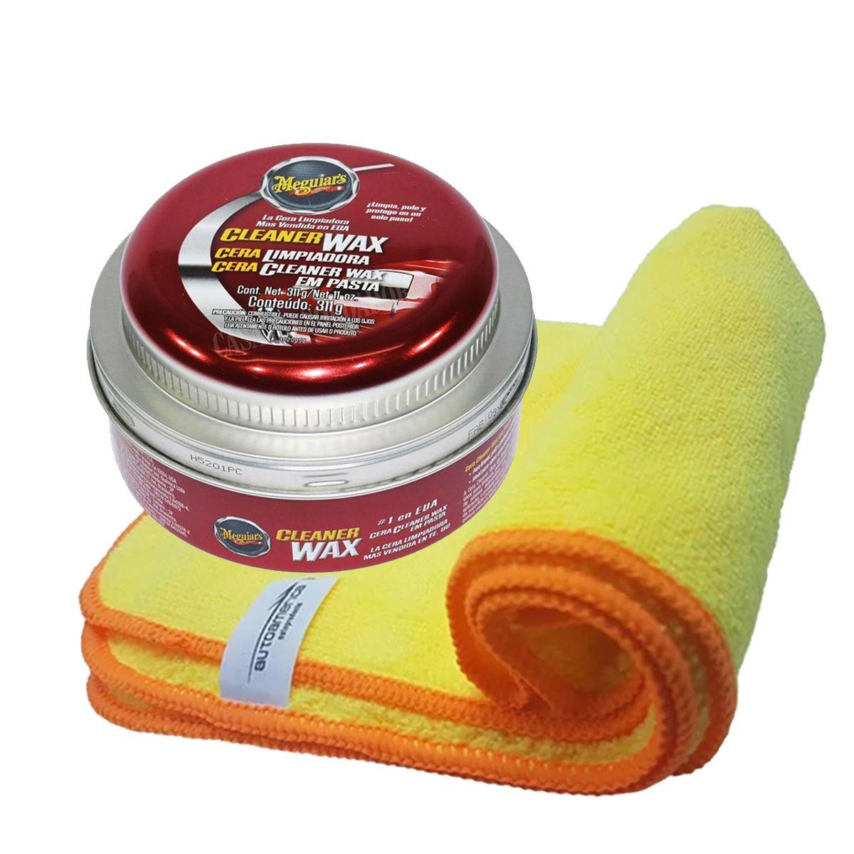 Cera Cleaner Wax pasta Meguiars + Flanela 40x60 Autoamerica