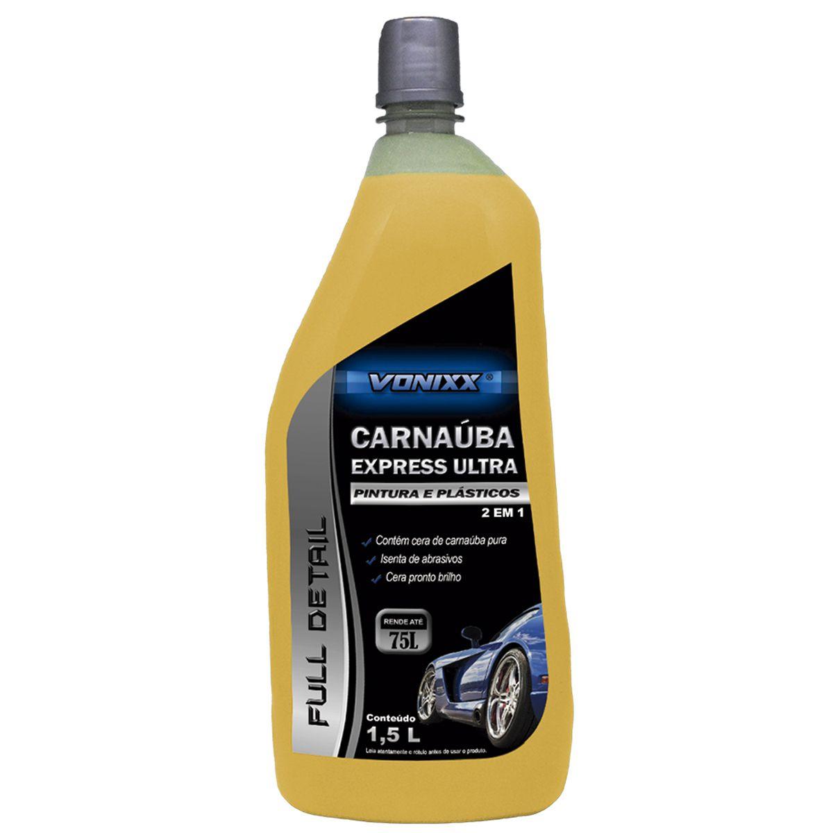 Cera de Carnaúba Express Ultra 1,5 Litros Vonixx