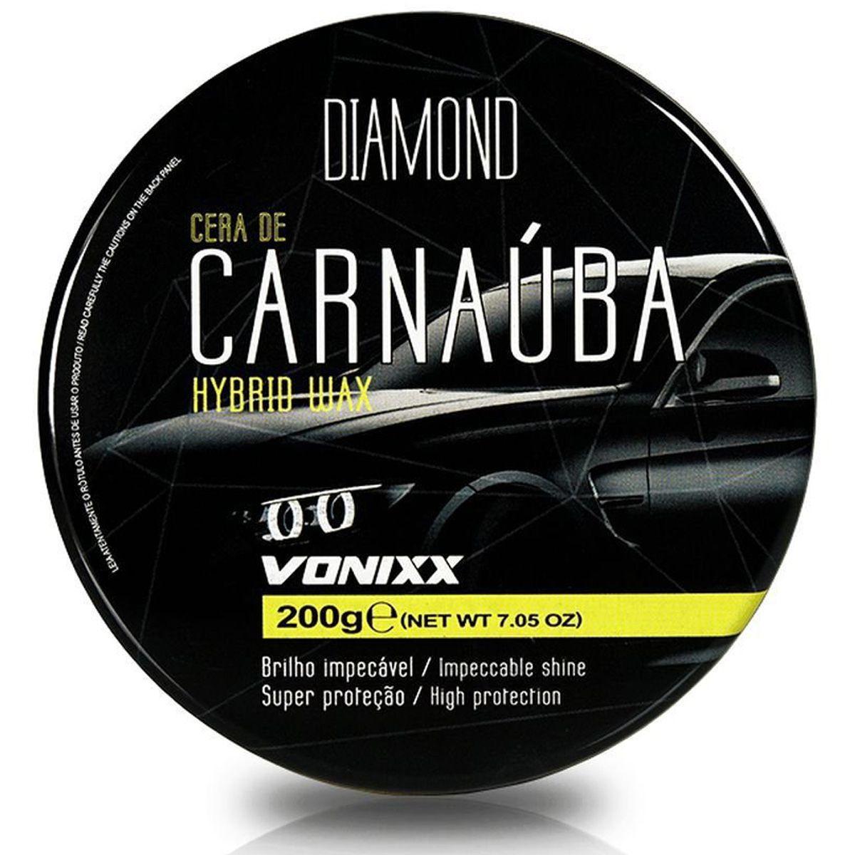 Cera de Carnaúba Hybrid Wax 200g Vonixx
