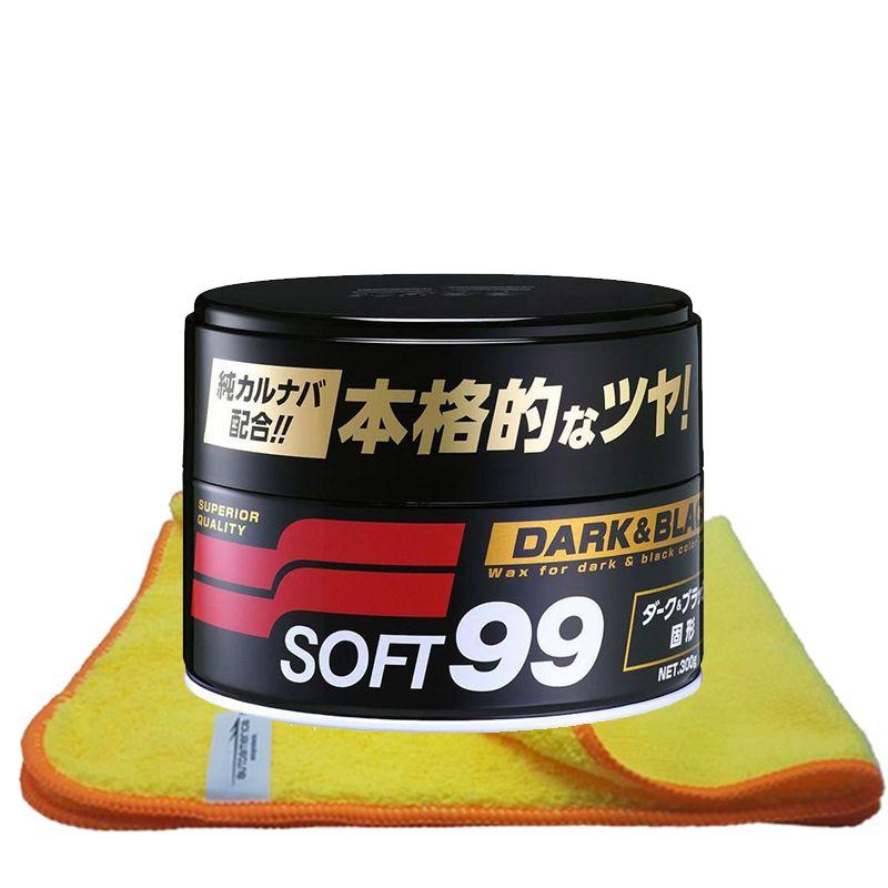 Cera de Carnaúba Premium 300g Soft99 Dark & Black Paste Wax + Flanela 40x60