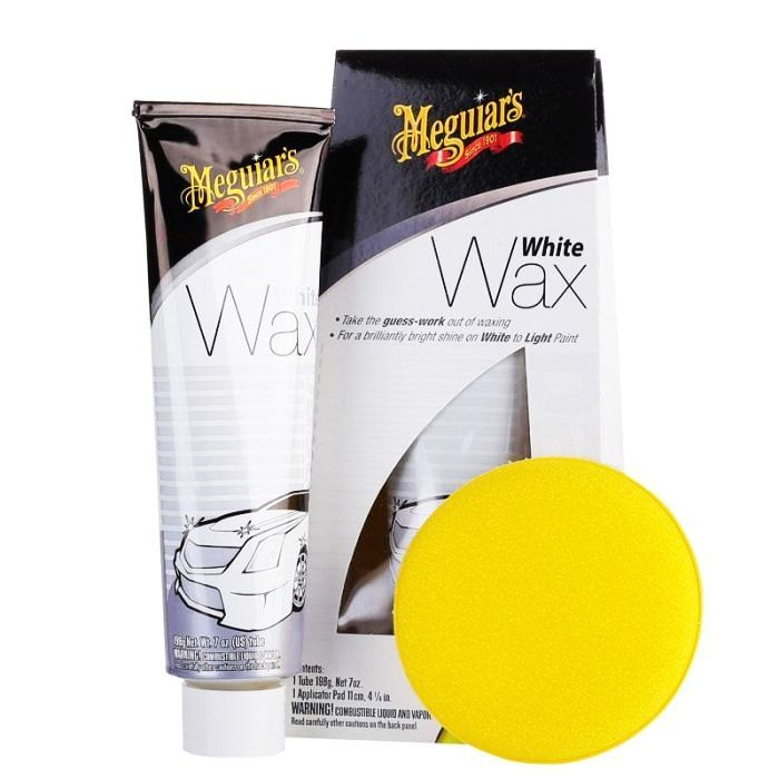 Cera para Carros Brancos White Wax G6107 Meguiars 198g