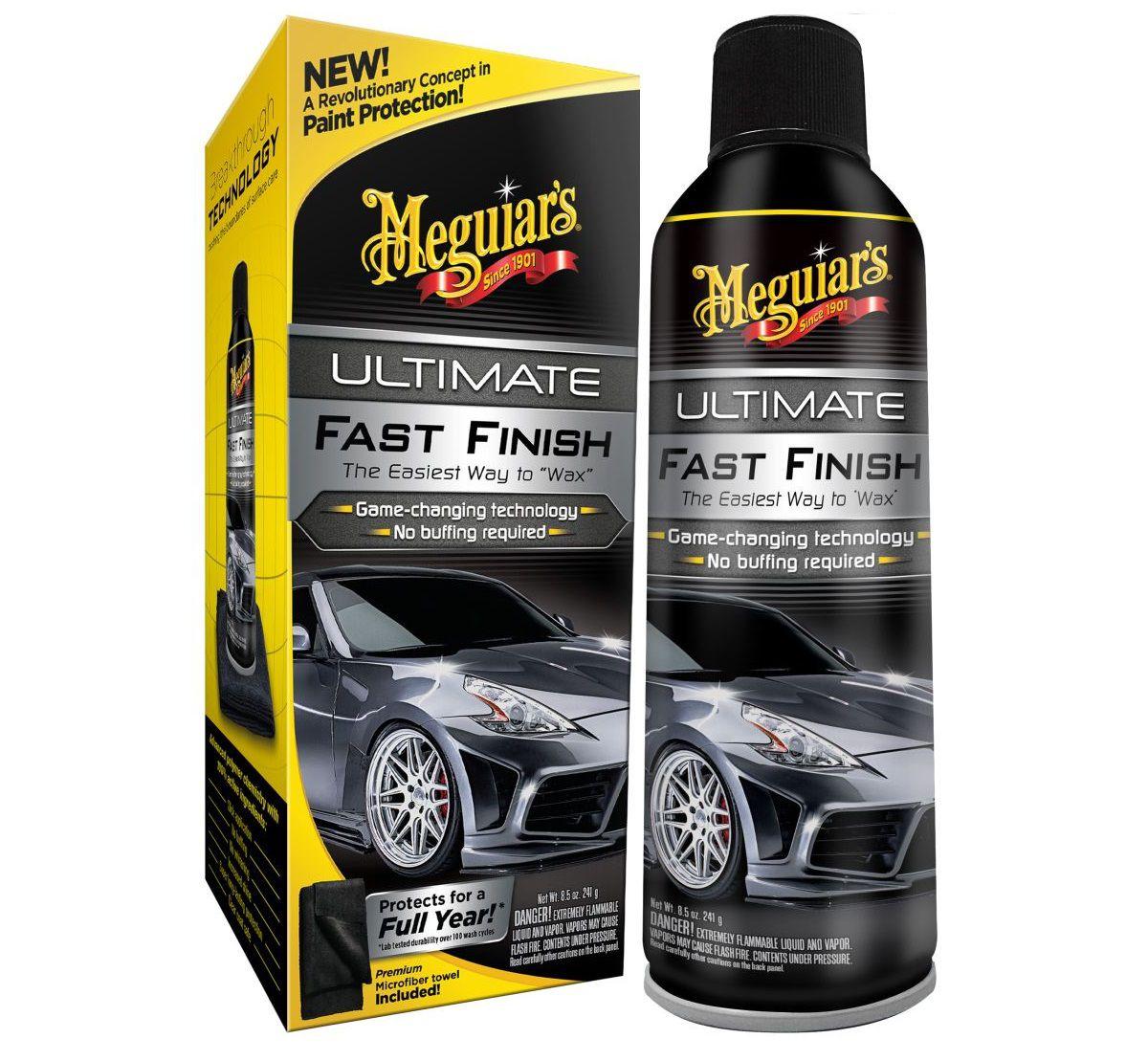 Cera Protetora Spray Ultimate Fast Finish 251,4ml Meguiars + Boné Brinde