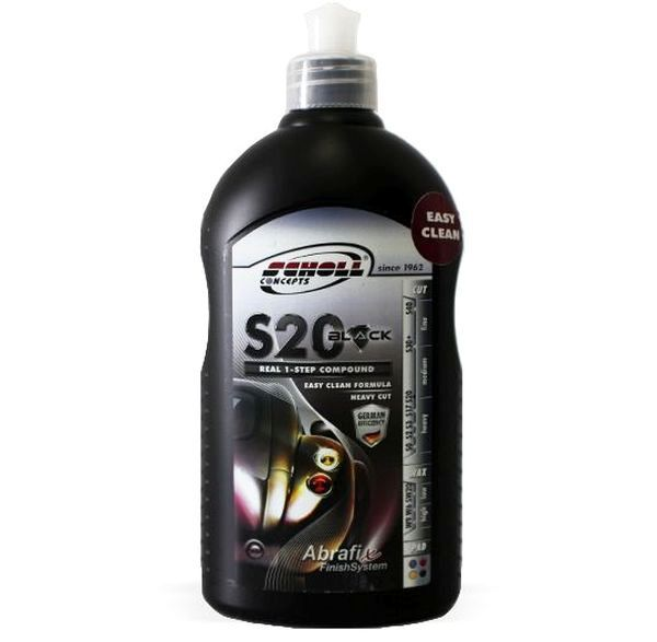 Composto Polidor S20 Black One Step 500g Scholl Concepts