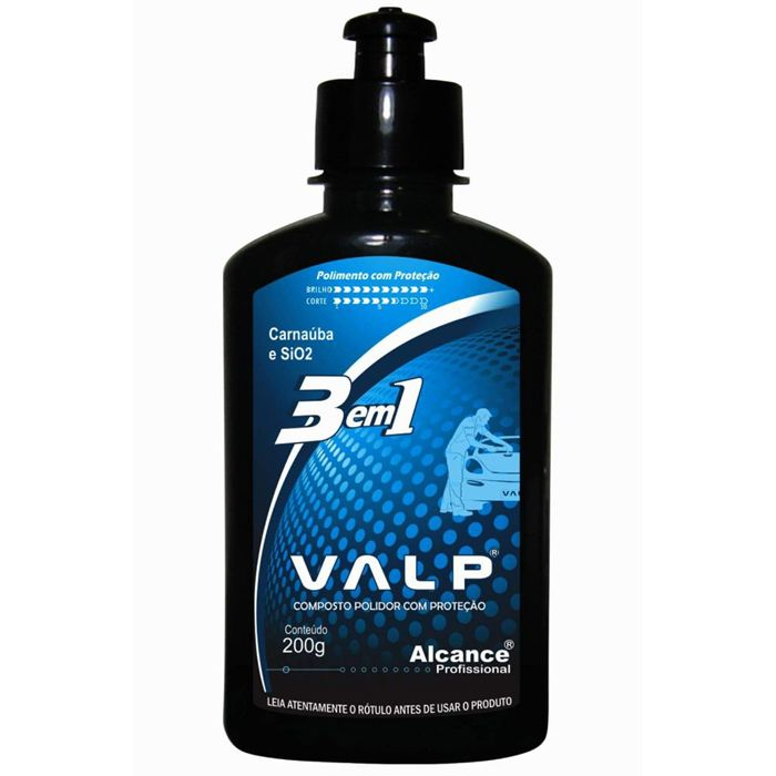 Composto Polidor Valp 3 em 1 200g Alcance