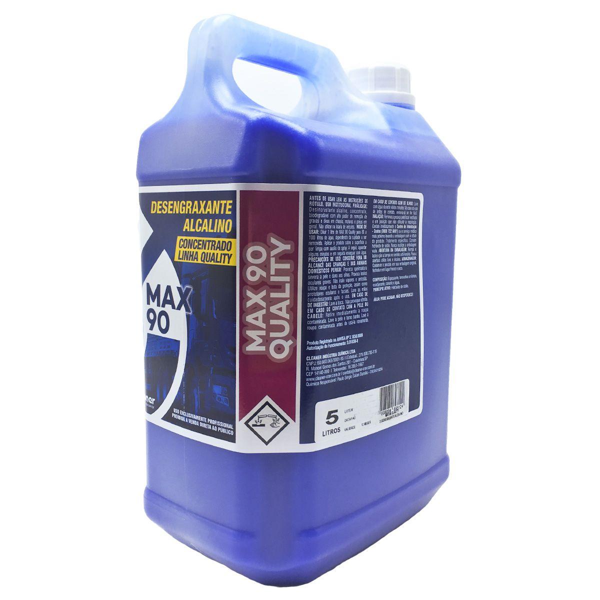 Desincrustante Alcalino Concentrado Max 90 1-100 (Cleaner) 5 Litros