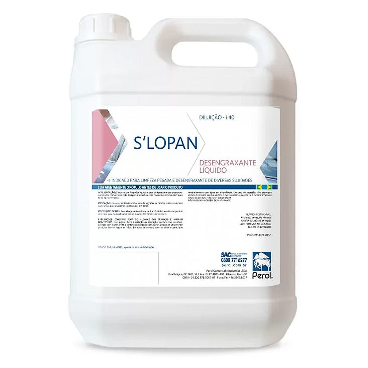 Desincrustante Alcalino Slopan 1- 100 Perol 5 Litros