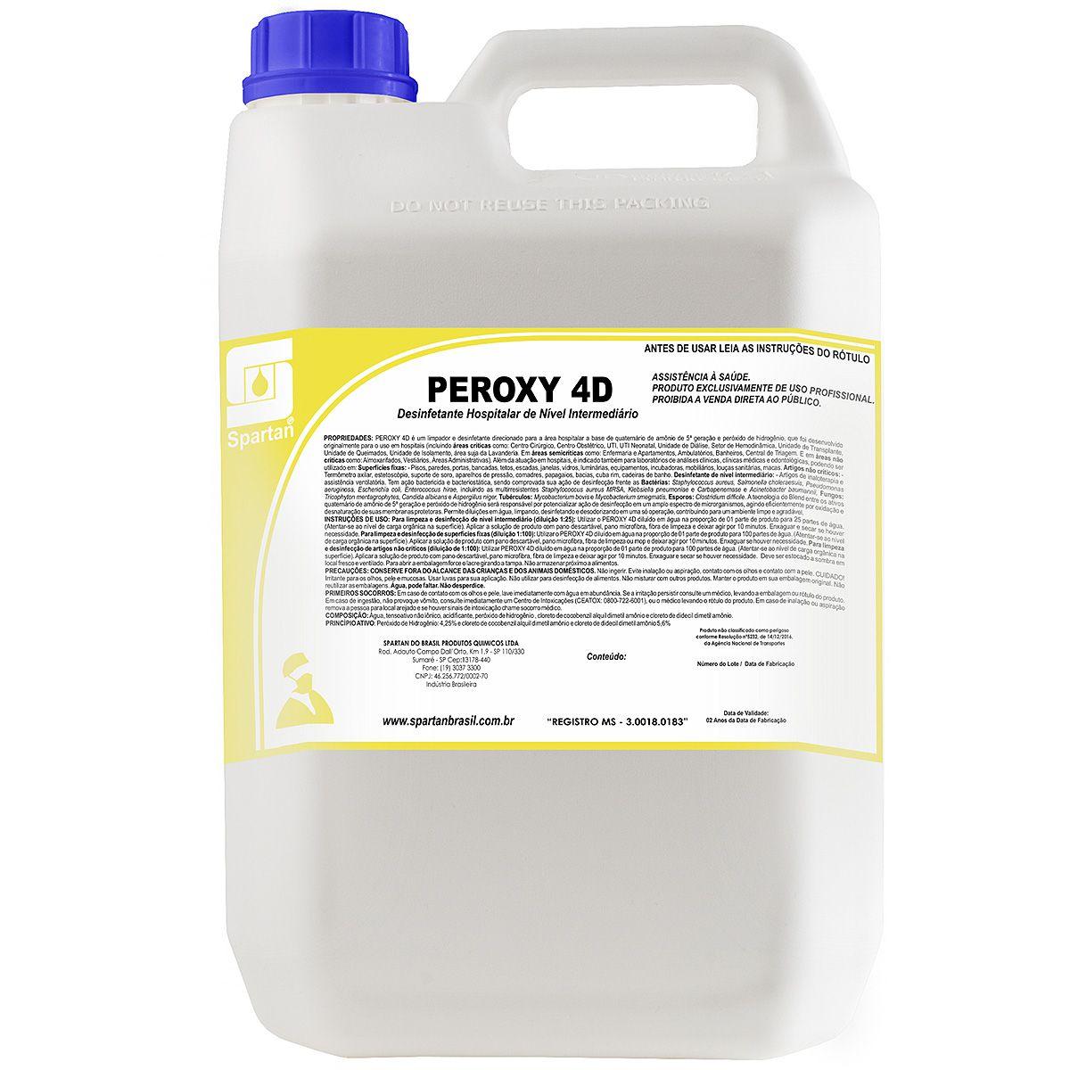 Desinfetante Hospitalar Peroxy 4D 5 Litros Spartan