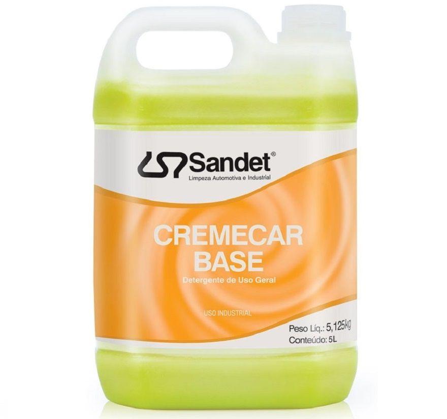 Detergente de Uso Geral Cremecar Base 5 Litros Sandet