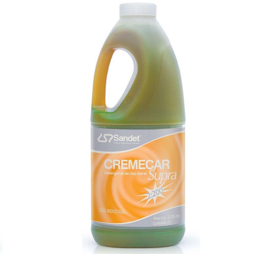Detergente de Uso Geral Cremecar Supra 2 Litros Sandet