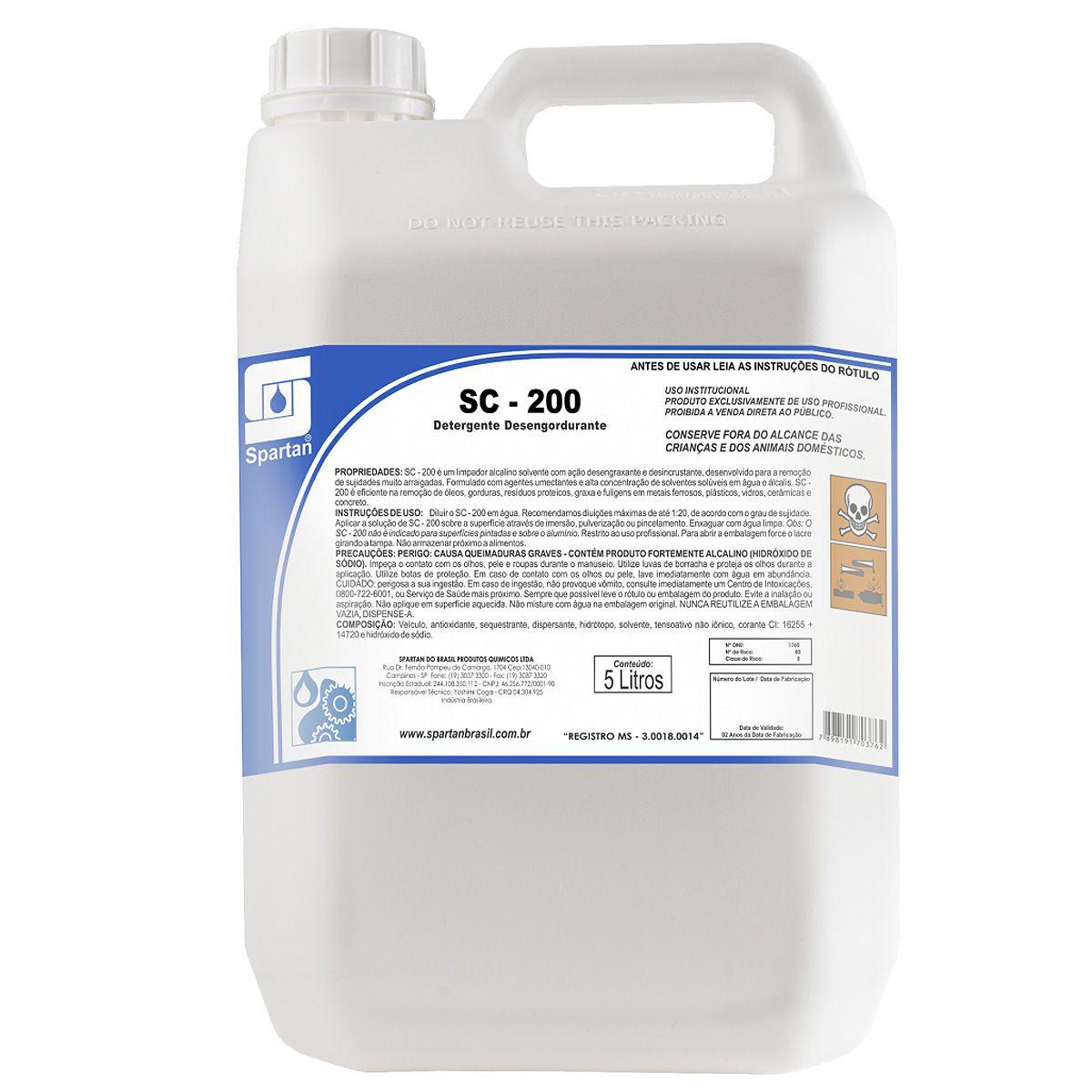 Detergente Desengraxante Alcalino Bl-10 Spartan 5 Litros