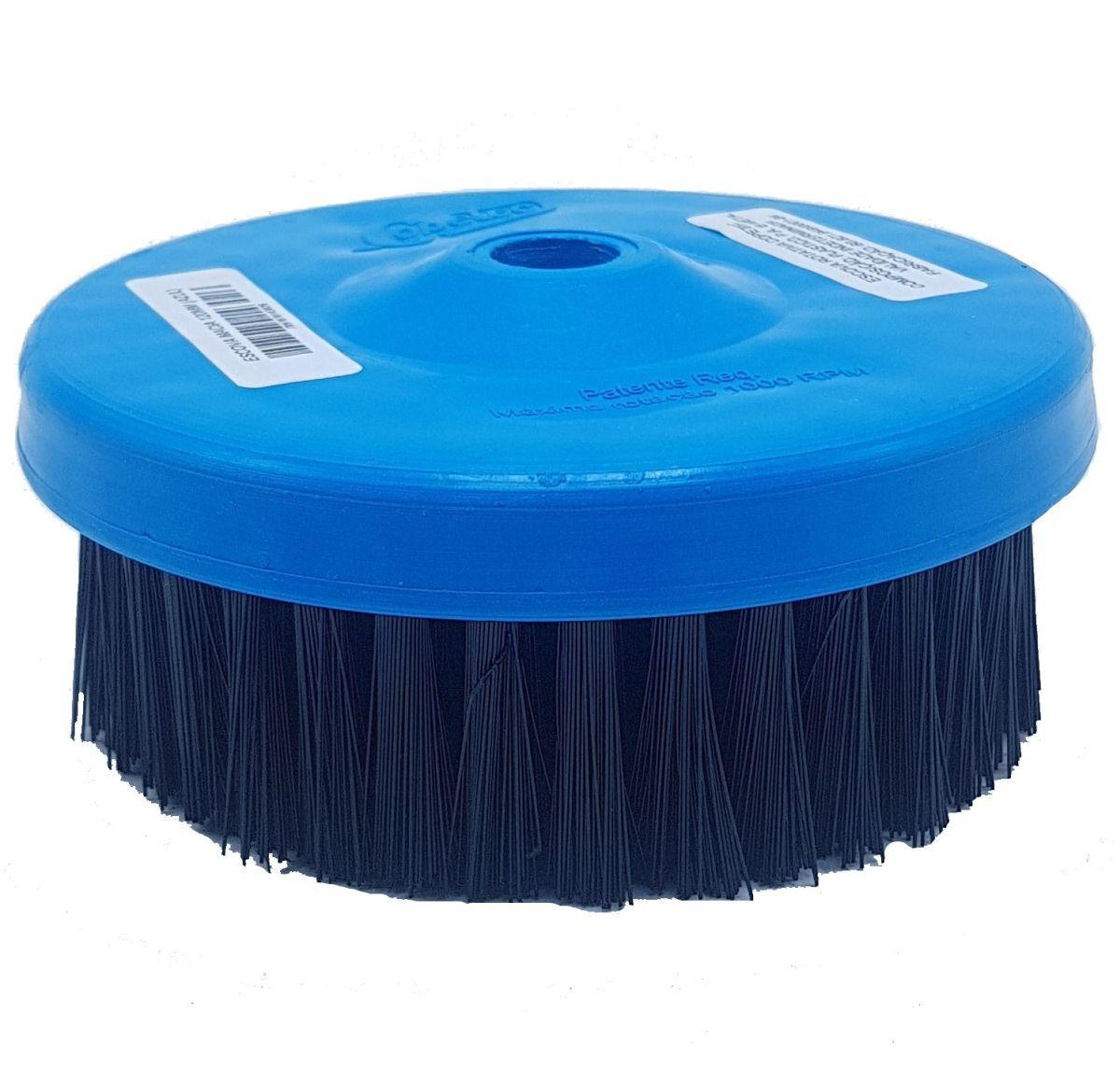 Escova Rotativa Macia Azul 120mm Rosca M14mm Copetec