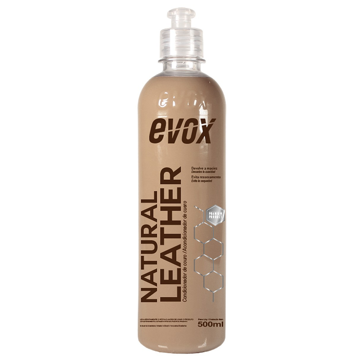 Hidratante de Couro Natural Leather 500ml Evox