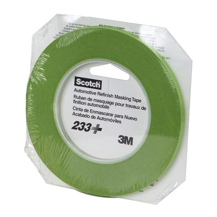 Kit 1 Fita Crepe Verde Scotch 233 +Fita Para Mascaramento 233+ 18mm X 32m - 3M