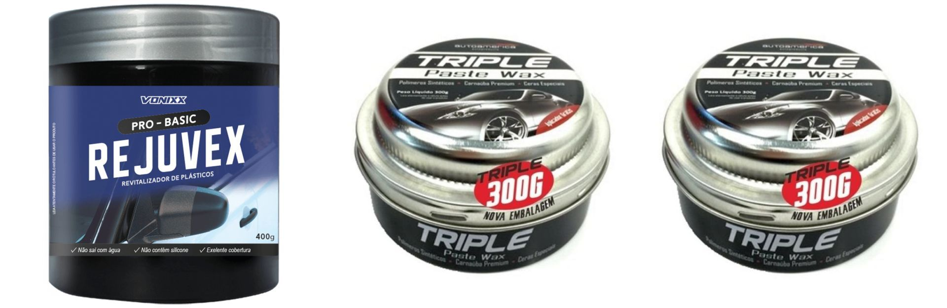 Kit 2 Cera Triple 300g+ 1 Rejuvex 400g