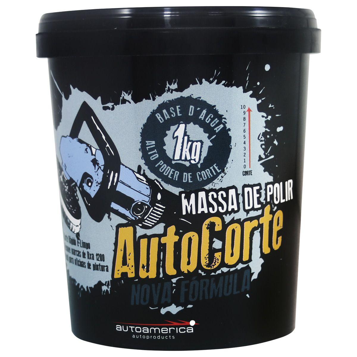 Kit 6 Massas de Polir Auto Corte 1Kg Autoamerica