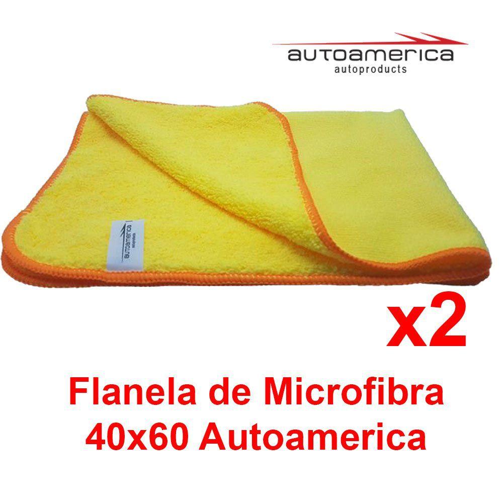 Kit C/ 2 Un Flanela Microfibra 60x40 Autoamerica