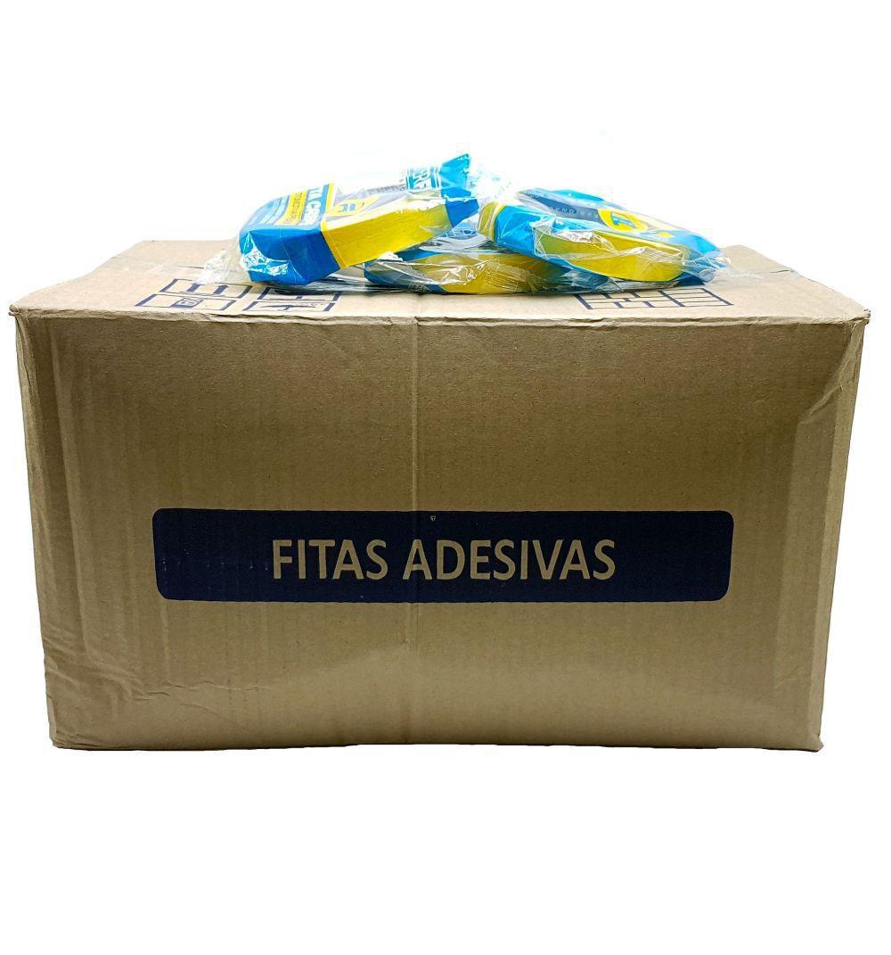 Kit Caixa Fechada 180 Fitas Crepe Amarela Para Pintura Automotiva 18x40cm Masterfix