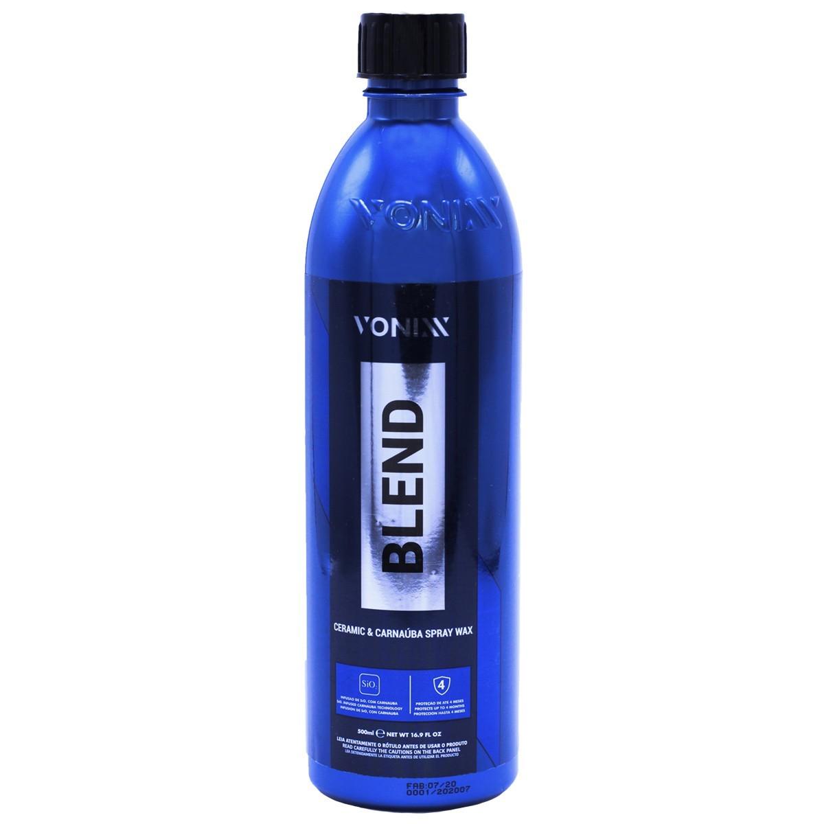 Kit Cera Blend Spray+Revitalizador de Pneus+ Escova Para Caixa de Rodas