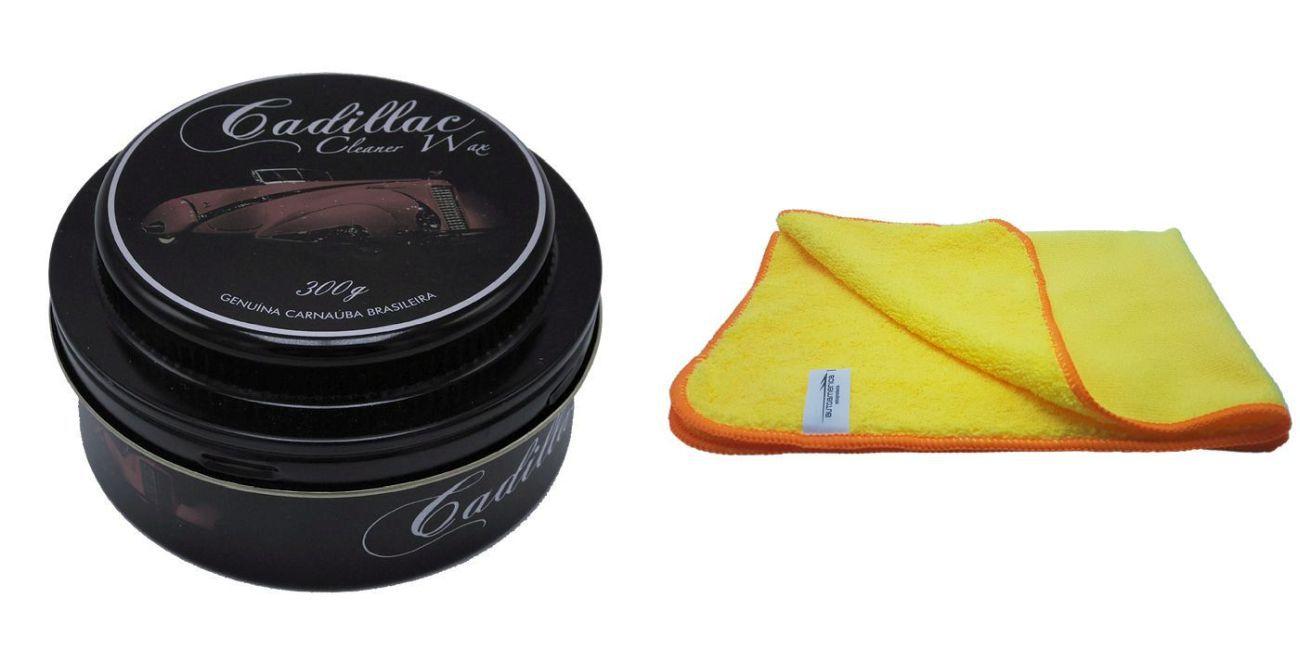 Kit Cera Cleaner Wax+ Flanela De Microfibra 60x40