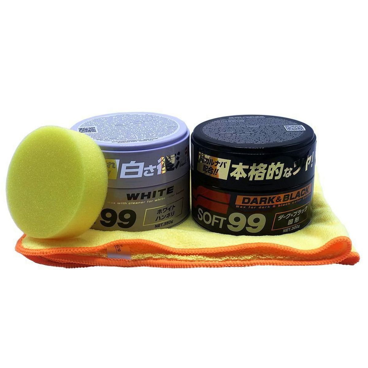 Kit Cera Dark & Black Soft99 + Cera White Soft99 + Flanela 40x60 cadillac