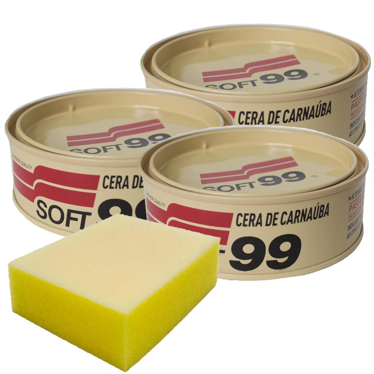 Kit Cera de Carnaúba All Color Soft99 + Brinde Aplicador