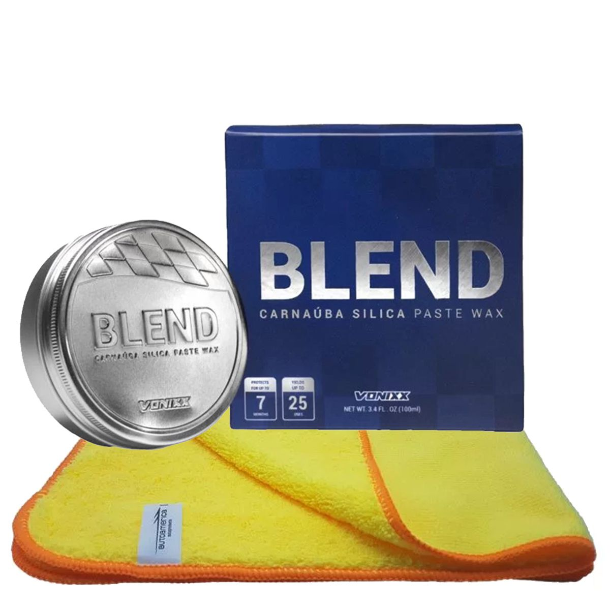 Kit Cera de Carnaúba Paste Wax Blend 100ml + Flanela 60x40 Autoamerica