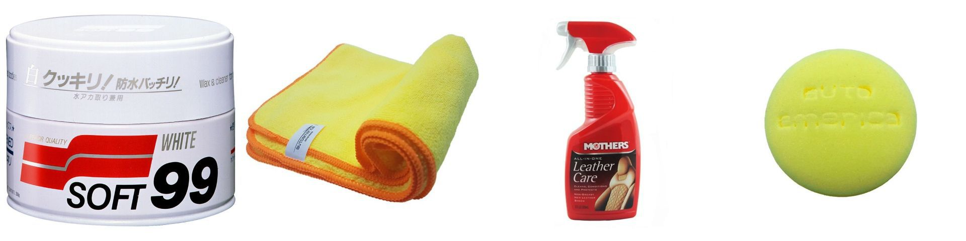 Kit Cera+Flanela+Leather care all-in+Espuma aplicadora