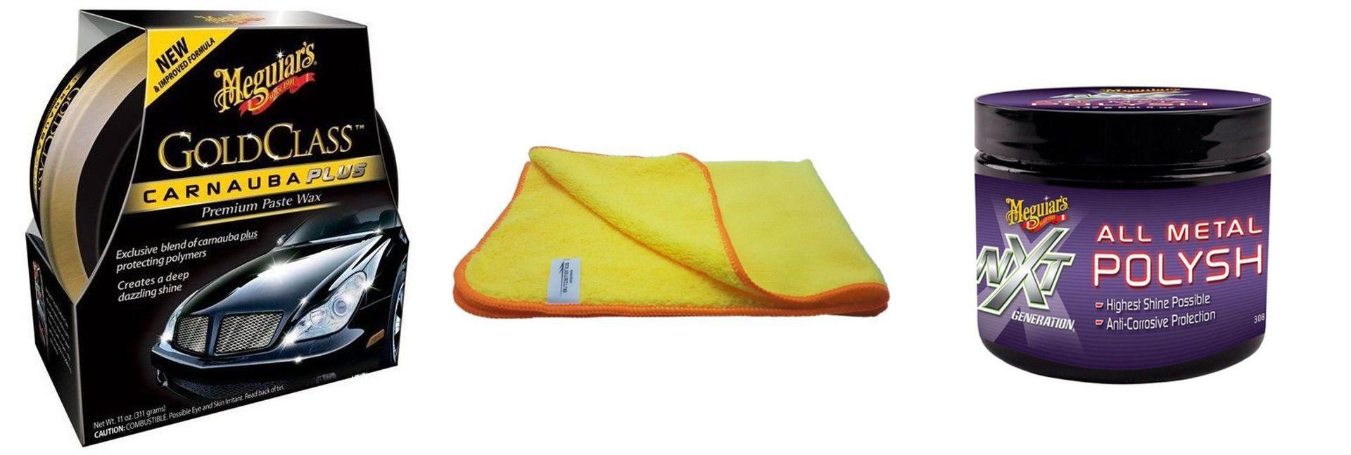 Kit Cera Gold Class+ Polidor De Metais Nxt+ Flanela 40x60