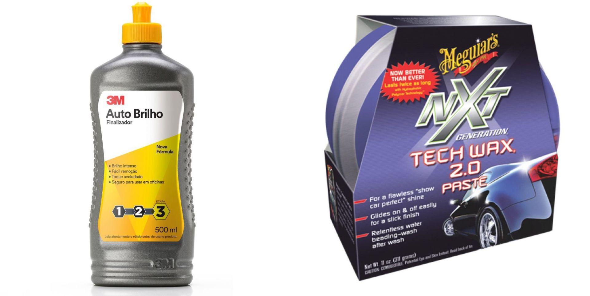 Kit Cera Nxt Generation Tech Wax+Lustrador Auto Brilho